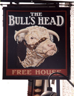 Hanging sign for a pub in Wales